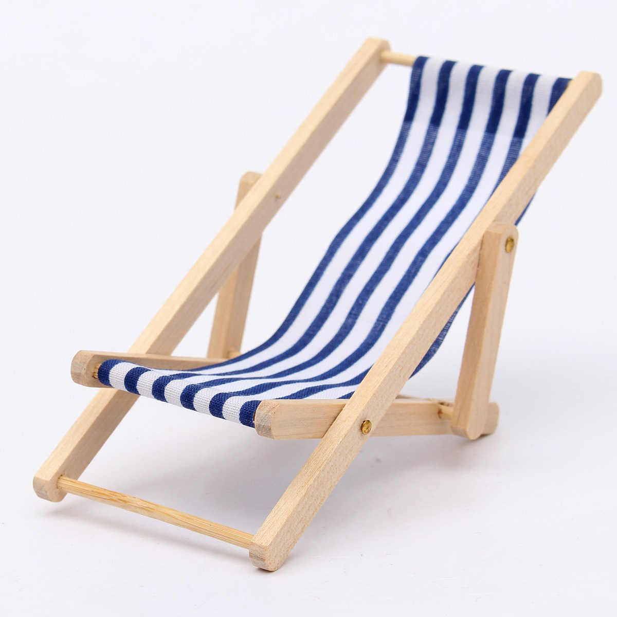 Folding Wood Beach Chair Us 4 98 1 12 Scale Lovely Miniature Foldable Wooden Deckchair Lounge Beach Chair For Dolls House Color In Green Pink Blue In Dolls Accessories From