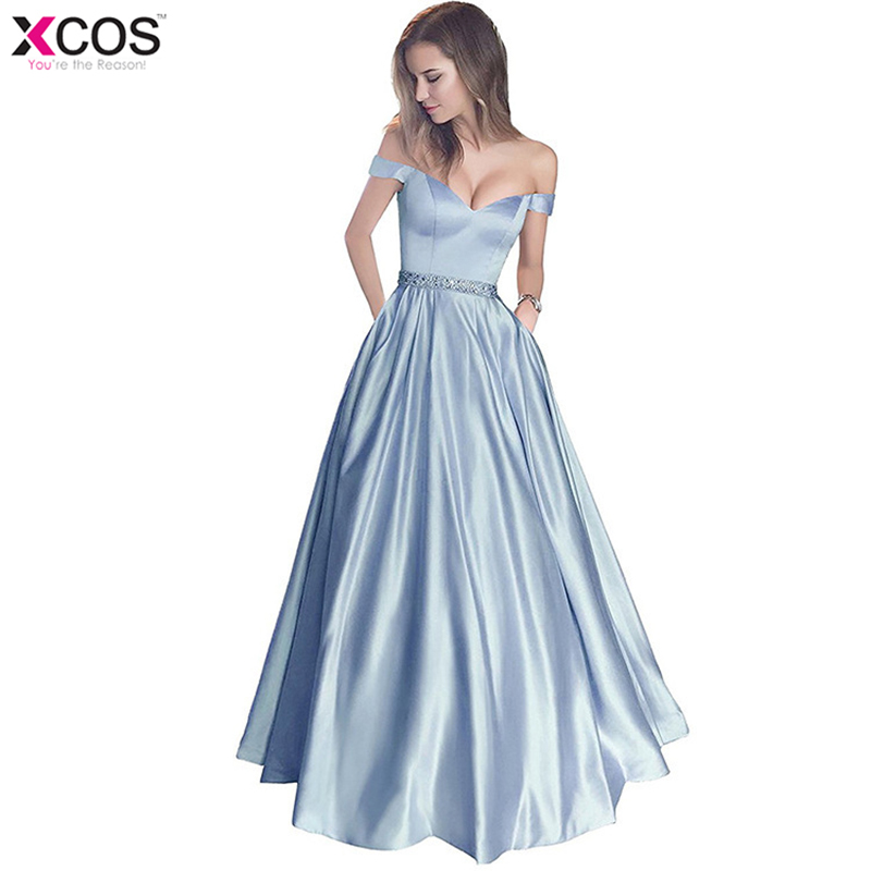 Robe De soirée Sexy 2018 chérie dos ouvert une ligne longues robes De soirée avec ceinture robe De fête De Festa Satin rose robes De bal