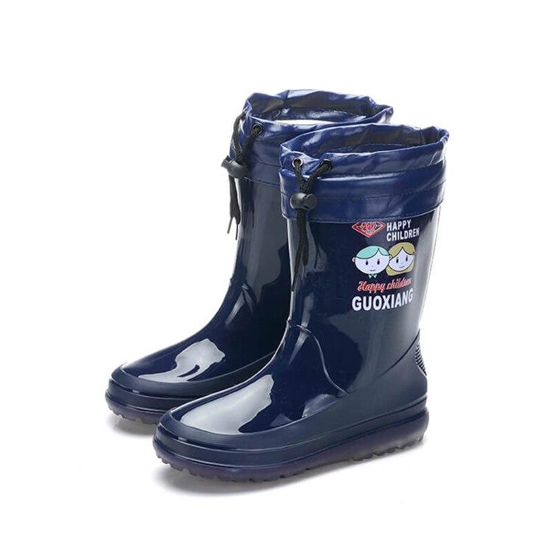 New-Children-Rainboots-Rubber-PVC-Waterproof-Boots-Girls-Boys-Designer-Kids-Shoes-Brand-All-Seasons-Outdoor-Rain-BootsBig-Kid-2