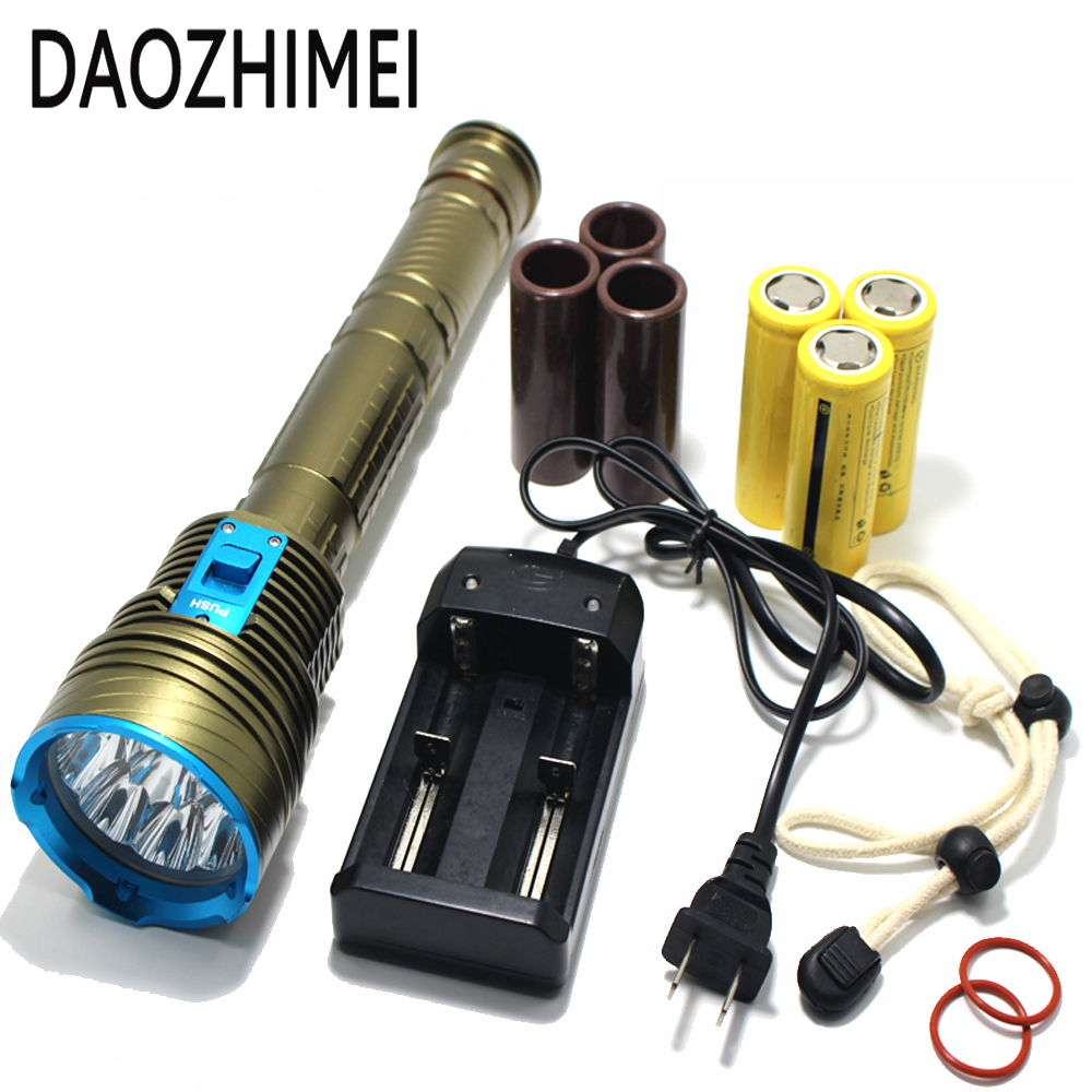 30000 Lumen XML 9x L2 LED Underwater 3 mode Waterproof LED Diving Flashlight Flash Light Lamp Lantern+3*18650 battery/Charger 5x xml l2 12000lm led waterproof diving flashlight magswitch diving torch lantern led flash light 2x18650 battery charger