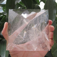 Hot Sale ! 520~800g 90*90 & 95*95mm Large Natural Rock Clear Quartz Crystal Pyramid Reiki Healing cristal Energy Pyramid 2020