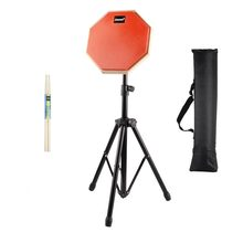 (Ship from US) 8'' Beginner Silent Practice Drum Pads With Stand Drumming Practise Dumpad Set For Drummers Gift 1 Pair Drumsticks D