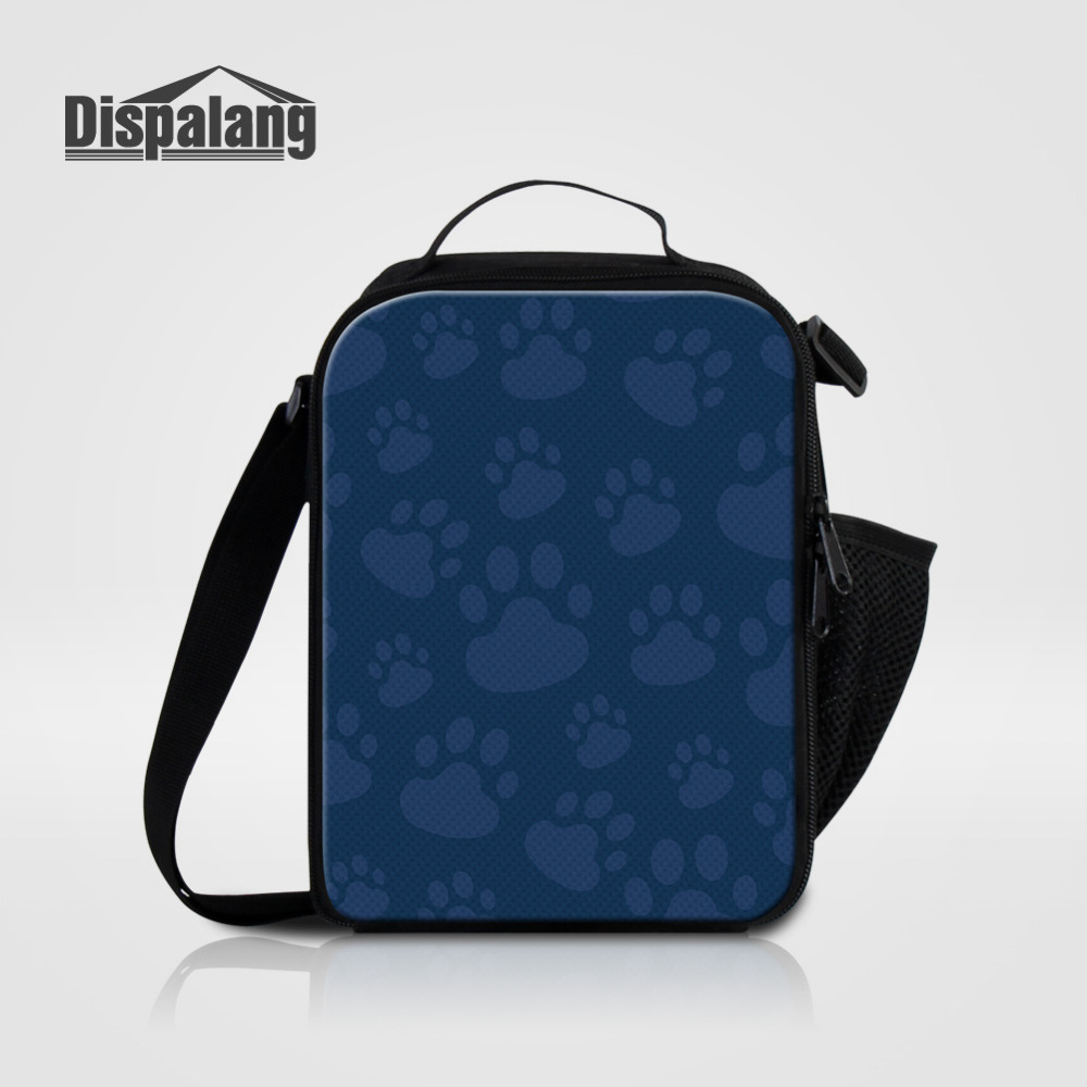 Dispalang Cat Paw Pattern Kids Lunch Bag Portable Insulated Cooler Iunch Bag Small Thermal Food Fags For Women Men Picnic Bag