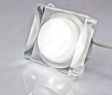 5X Dimmable 7W Crystal Brick LED Recessed Ceiling Wall Light Cabinet Decor Lamp