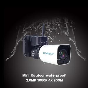 Image 2 - Inesun Outdoor WiFi IP Security Camera 1080P IP Camera WiFi 4X Zoom PTZ Camera 120ft IR Night Vision Two Way Audio 128G SD Card