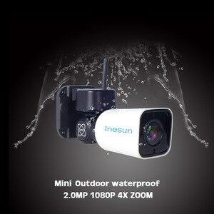 Image 2 - Inesun açık WiFi IP güvenlik kamera 1080P IP kamera WiFi 4X Zoom PTZ kamera 120ft IR gece görüş iki yönlü ses 128G SD kart