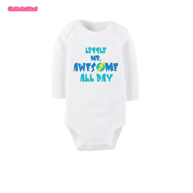 3b0429e8 Culbutomind Little Mr Awesome Print Cotton Short Sleeve Baby Body Suit Baby  Shower Gift Funny Baby Clothes