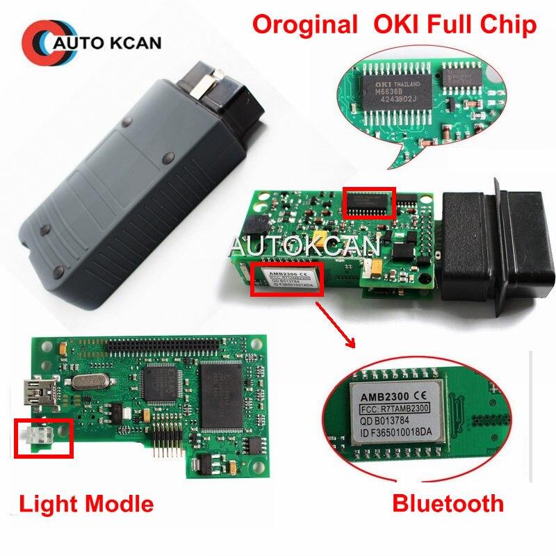Цена за Лучшее качество VAS 5054a OKI полный чип Одис 3.03 для VW VAS 5054a Bluetooth Поддержка UDS протокол инструмент диагностики