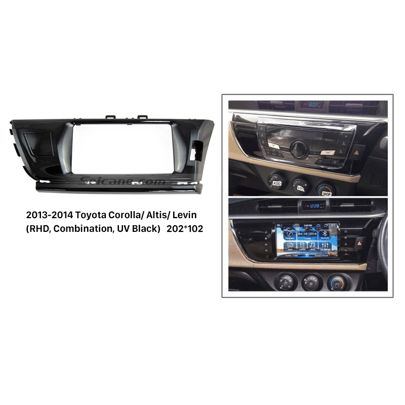 Seicane Combination Double Din Car Radio Fascia for 2013 2014 Toyota Corolla Altis Levin RHD Dash Mount Kit DVD Frame CD Trim