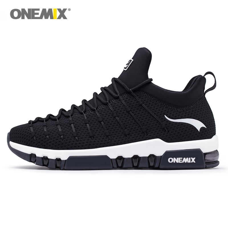 ONEMIX 2018 NEW Max Men Walking Shoes Women Trail Athletic Trainers Black Sports Boot Cushion Outdoor Tennis Running Sneakers 42 onemix man running shoes for men athletic trainers black blue zapatillas sports shoe outdoor walking sneakers free ship
