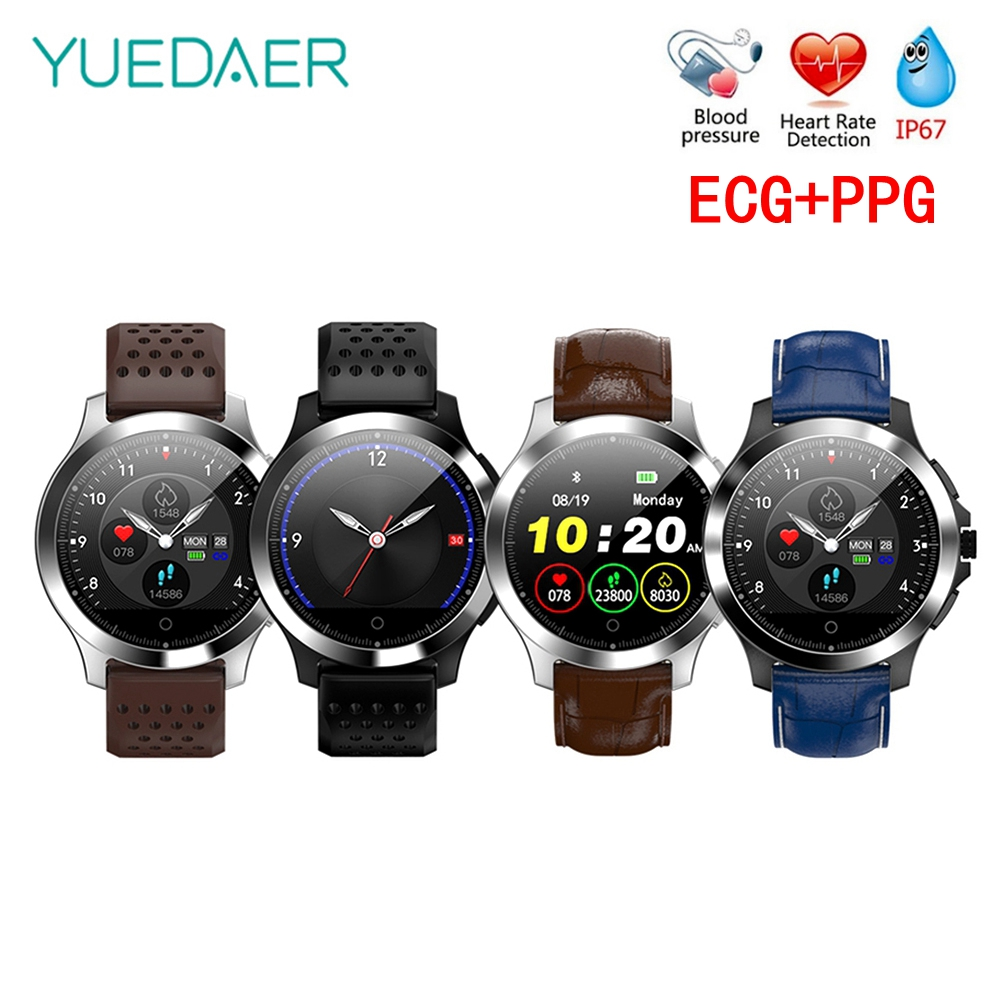 Yuedaer W8 Smart Band ECG + PPG Smart Bracelet Blood Pressure Heart Rate Monitor Fitness Tracker Smart Watch Men Pedometer
