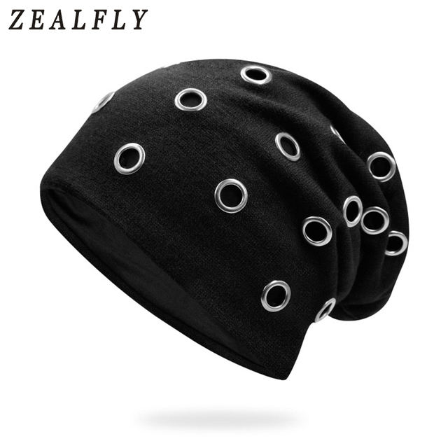 900839e050b Unisex New Ring Caps Warm Beanie Punk Hat Gorras Winter Knitting Hip Hop  Caps Beanies Knitted