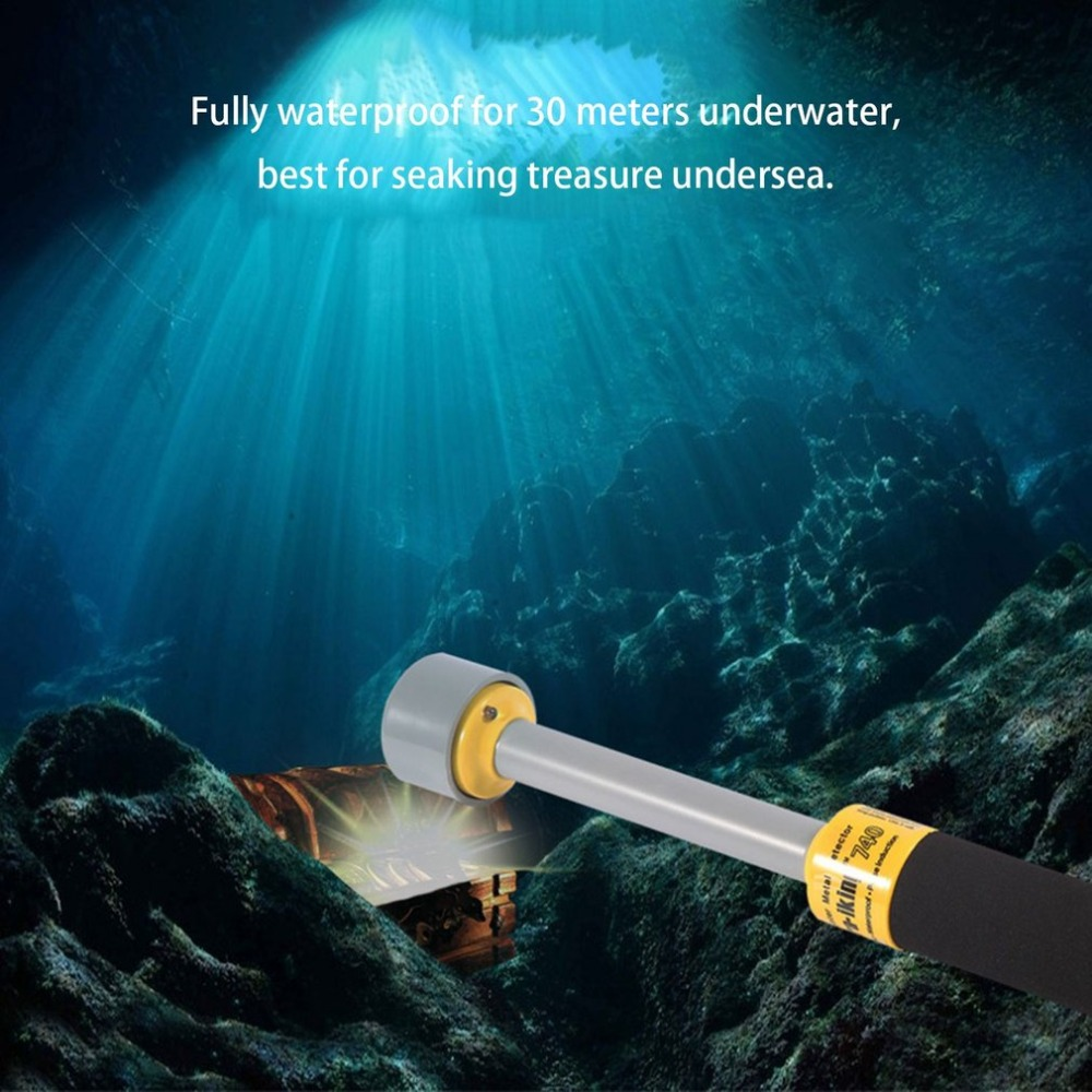 PI-iking 740 Metal Detector 30m Waterproof Underwater Metal Detector Pulse Induction Portable Hand Held Pinpointer portable tx 2003 super hand held metal detector pinpointer treasure hunting accessory black model