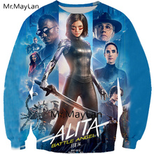 2019 New 3D Printed Movie Alita Battle Angel Sweatshirts Men/women HipHop Streetwear Pullover Hoodies Boy Spring Hipster Clothes
