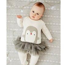 1er Anniversaire pingouin impression Infantile Partie laceTutus Bébé Barboteuses Macacao Bebe Roupa Infantil Nouveau-Né Bébé Fille Barboteuse Vêtements