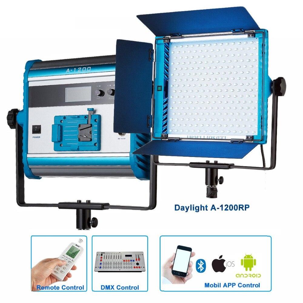 Yidoblo A-1200RP LCD affichage lampe à LED lumière douce jour lumière LED panneau lumineux pour photographie Studio lampe APP télécommande ensemble