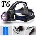 LED Head lamp Headlight CREE XML-T6 4000LM Outdoor sports HeadLamp 18650 bike led light 18650 battery+car charger