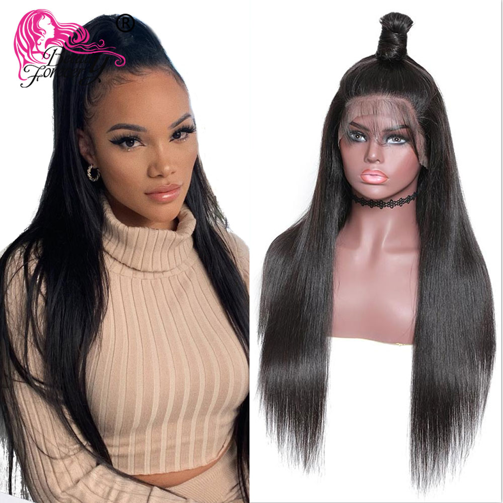 BeautyForever 13 6 Straight Lace Front Wigs Brazilian Remy Hair Human Hair Wig 150 Density Natural