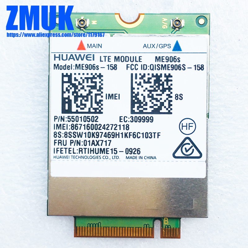 ME906S ME906S-158 LTE NGFF 4G WWAN Card For Thinkpad T460 T460s P50s T560 X260 L560 YOGA-460 X1-C Series,FRU 00JT491 01AX717 цена