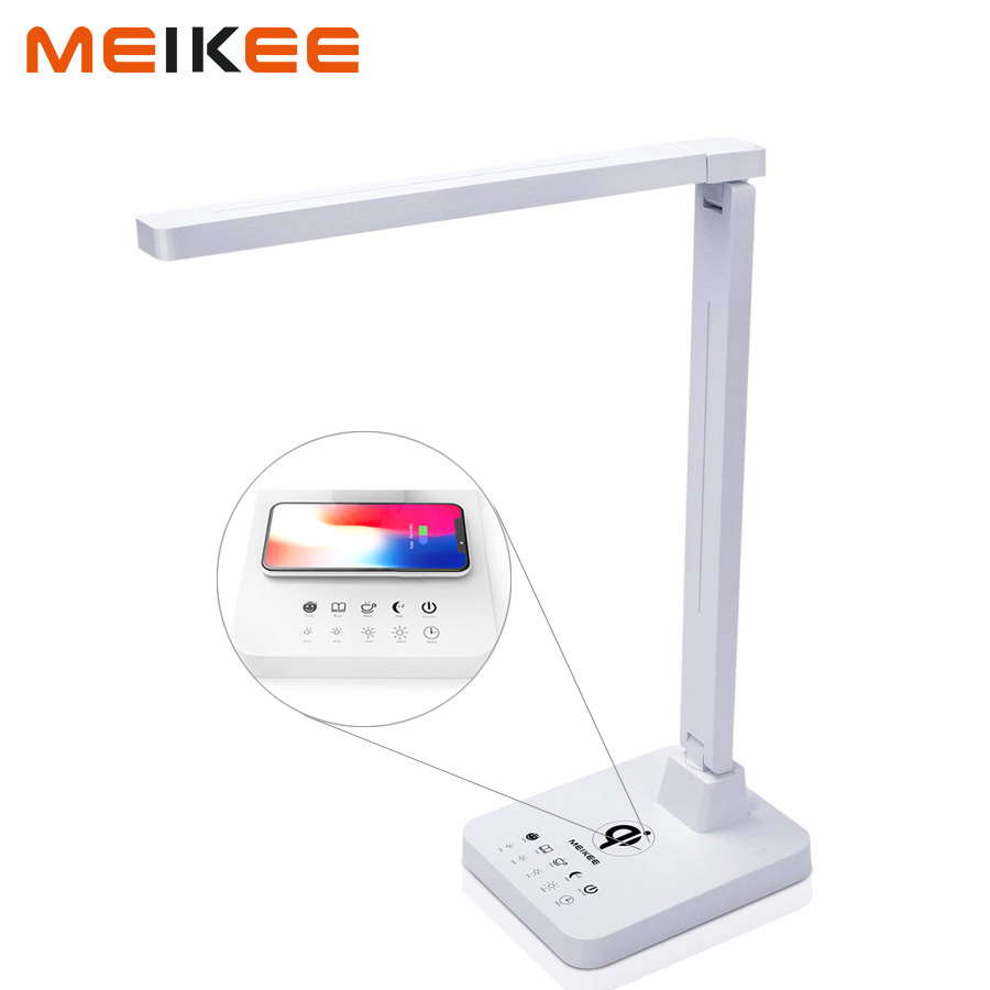 12W Eye-Caring LED Desk Lamp Light 4 Modes Touch Control Dimmable Rotatable LED Table Lamp Wireless Charging for Study Office side brush replacement for ilife v7s pro v7 ilife v7s plus robot vacuum cleaner parts accessories side brushes