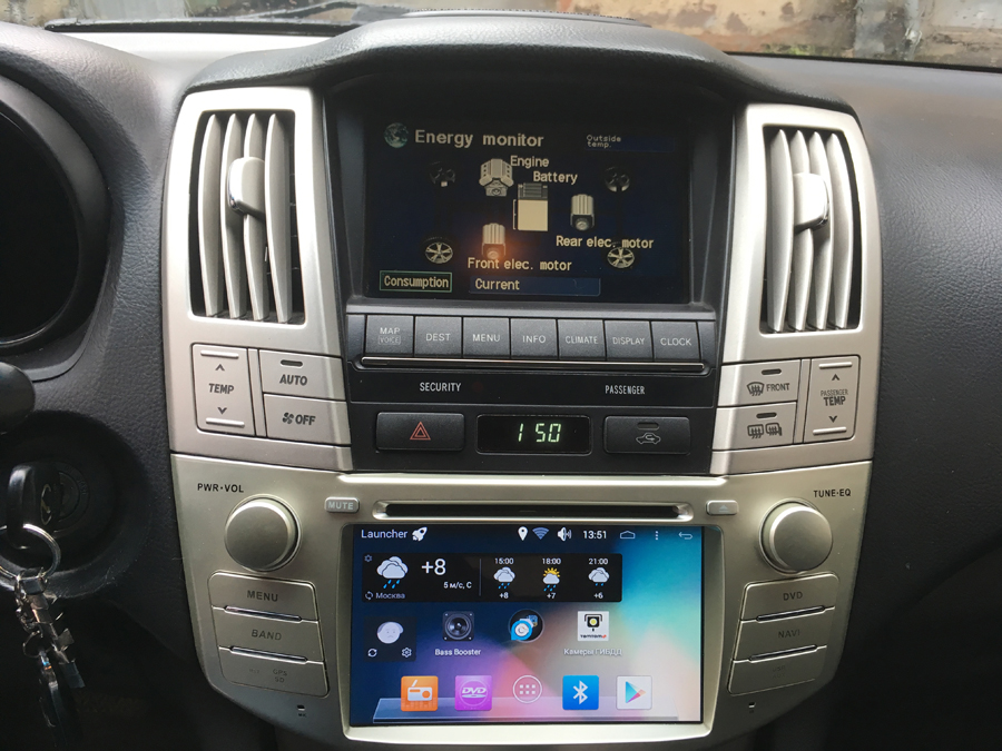 BYNCG Gps Radio Dvd-Player Rx400h Rx330 Android Car 2G Lexus 2004 for 1024--600 2GB-RAM