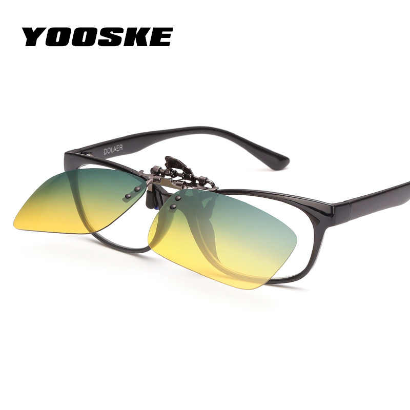 35e37f2b01 Detail Feedback Questions about YOOSKE Mens Polarized Clip On Sunglasses  Women Driving Day Night All round Vision Goggles Glasses Driver Safe  Protect ...