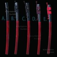 Espada bainha de madeira para japonês katana saya bainha com chifre de búfalo preto real envolvido cana e cabo (sageo)-76 cm