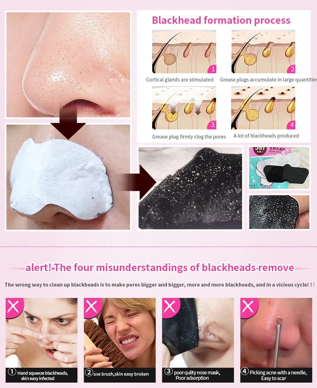 10pcs/set MENGXILAN blackhead remover nose strips deep cleaning plant pore  strip purifying facial mask acne treatment skin care