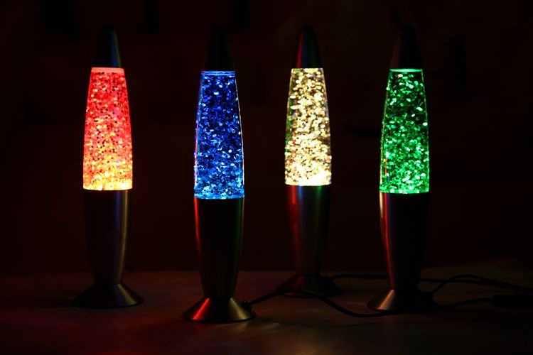 DSHA 3D Rocket wielokolorowy zmieniający się lampa Lava RGB LED Glitter Party nastrojowe nocne światło świąteczny prezent nocna lampka nocna