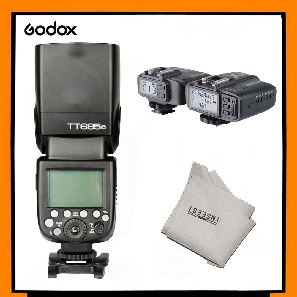 Godox TT685C Вспышка Speedlite + X1T-C TTL 2.4 Г Беспроводная Вспышка Триггера для Canon EOS 6D 60D 650D 600D 50D 40D 30D 550 DDSLR камера