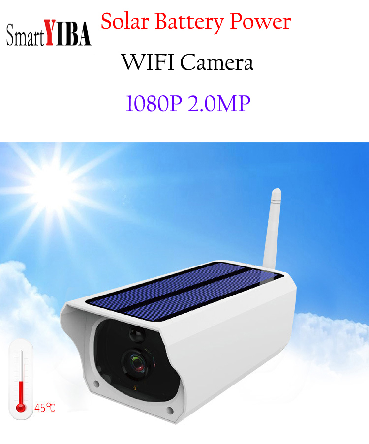 SmartYIBA CCTV SOLAR WiFi CAMERA 1080P HD Powered Wireless Security SOLAR IP CAMERA Outdoor Waterproof Surveillance Night VisionSmartYIBA CCTV SOLAR WiFi CAMERA 1080P HD Powered Wireless Security SOLAR IP CAMERA Outdoor Waterproof Surveillance Night Vision