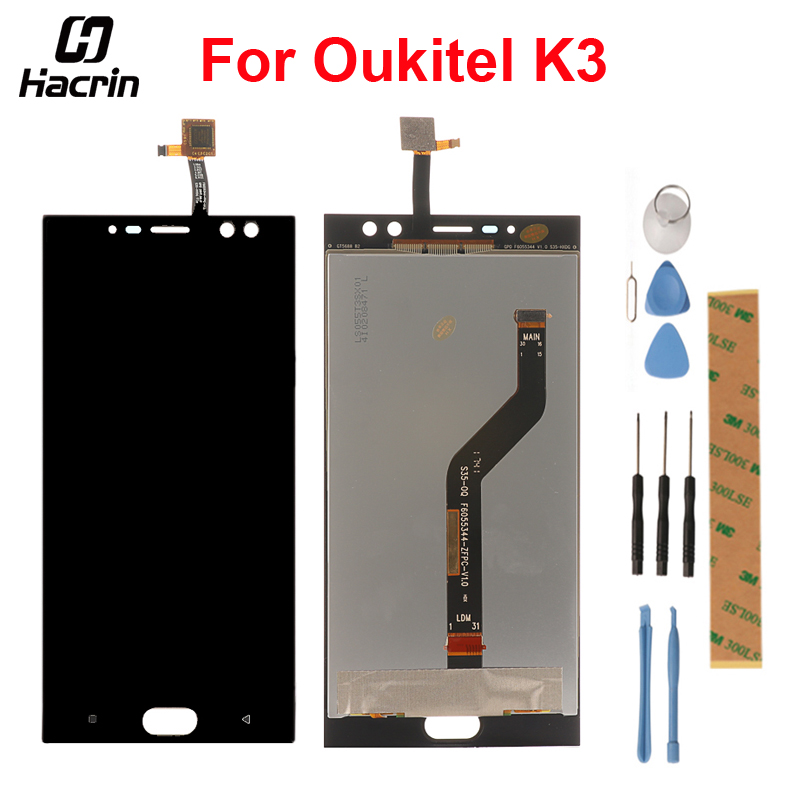 For Oukitel K3 LCD Display + Touch Panel LCD Screen Digitizer Assembly Replacement For Oukitel K3 Mobile Phone 5.5inch