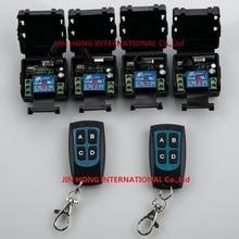 RF Wireless DC 12 V Remote Control Interruttore Ricevitore e 2 pz Trasmettitore 1CH 10A 4 pz Ligh strega relè casa intelligente z wave