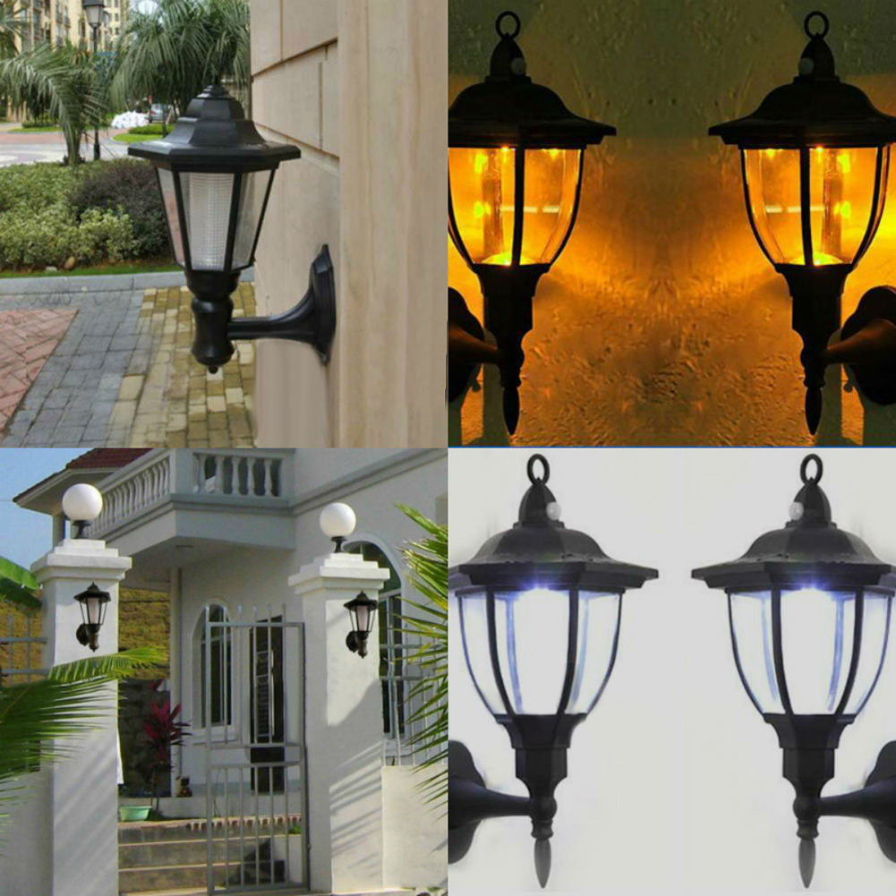 Outdoor Solar Power Led Light Path Way Landscape Mount Garden Fence Home Decoration Wall Street