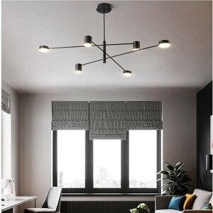 Image 3 - โมเดิร์นแฟชั่นสีดำสีขาวLedเพดานระงับโคมไฟระย้าโคมไฟสำหรับห้องโถงห้องครัวห้องนั่งเล่นLoftห้องนอน