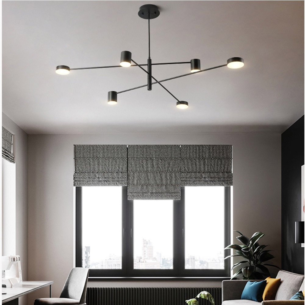 lustre para quarto moderna branca black frame 03