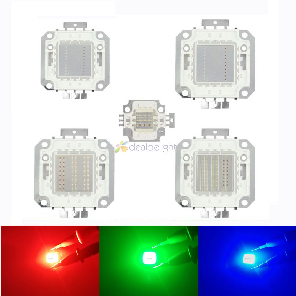 10W 20W 30W 50W 100W RGB High Power <font><b>LED</b></font> Lamp Light Bulbs Eipleds Chip For Stage Light Floodlight Spotlight image