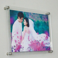Wholesale Transparent Crystal Effect Acrylic Photo Frame A3 Picture Frame Outline Border 455x335x8mm Can Customize Any