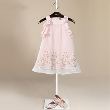 Girls Dresses Summer 2017 Flower Girl Dress For Party Girls Clothes Embroidered Floral Dress For Kids