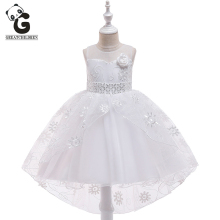 Kids Tulle Dresses for Girls BallGown Flower Girl For Weddings First Communion Dress Princess Evening Clothing