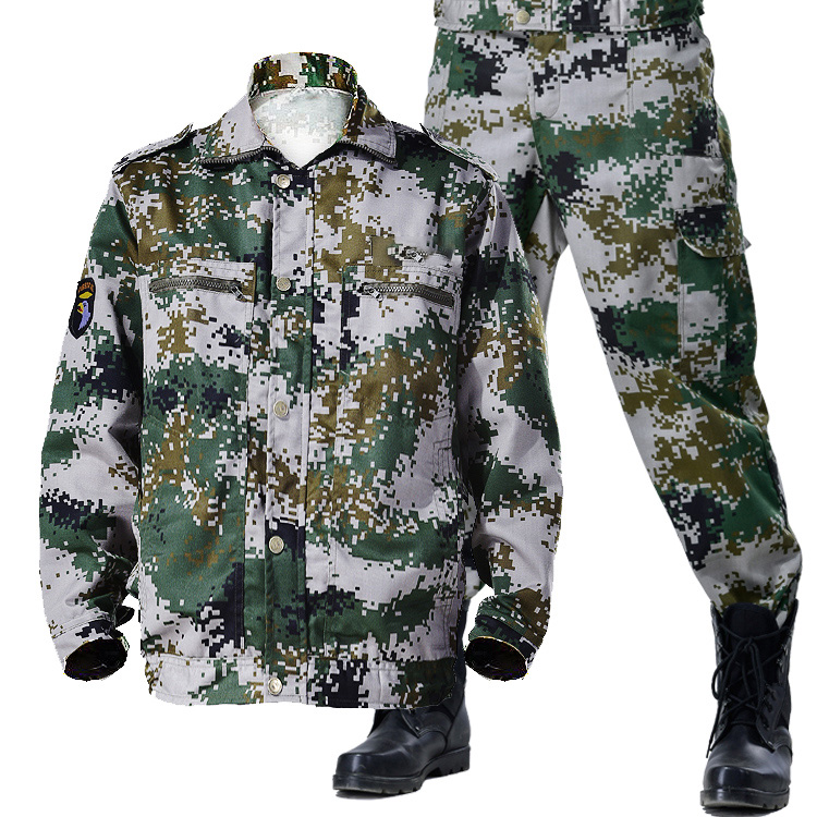 Camouflage set male military special training thickened wear-resistant labor protection s