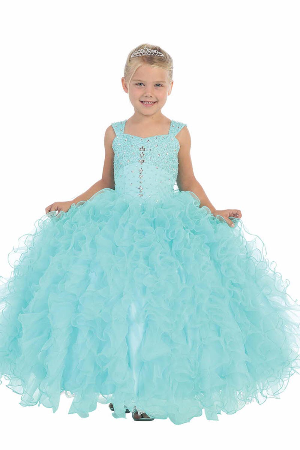 Ball Gown Flower Girls Dresses For Wedding Tulle Girl Birthday Party Dress Free Shipping Kids Prom Dresses Mother Daughter Dress