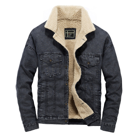 2018 Wool Liner Denim Jacket Men Winter Warm High Quality Mens Jackets Size S-2XL Outwear Cowboy Jeans Jacket jaqueta masculina Lahore