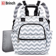 купить BRINCH Diaper Bag Maternity Mom Mochila Backpack Nappy Bag For Mom Lightweight Stroller Bags With Changing Pad Baby Backpacks по цене 1973.28 рублей