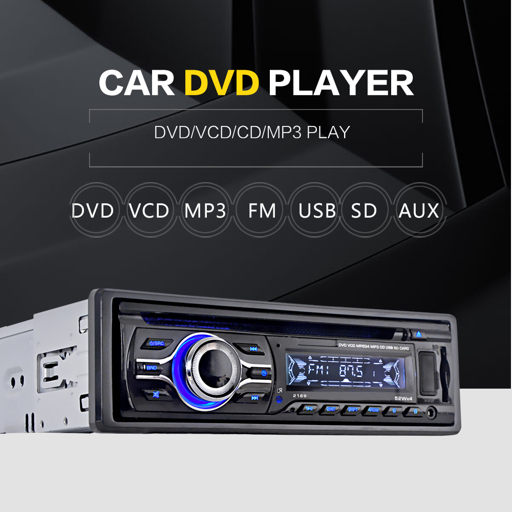 Universal car cd dvd mp3 player stereo radio player with in dash fm aux input