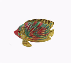 YAFFIL Jewelry 7X3X5cm Box Carrying Cases Fish Trinket Jewelry Box Animal Figurine Vintage Decoration Alloy Gold Crafts Table