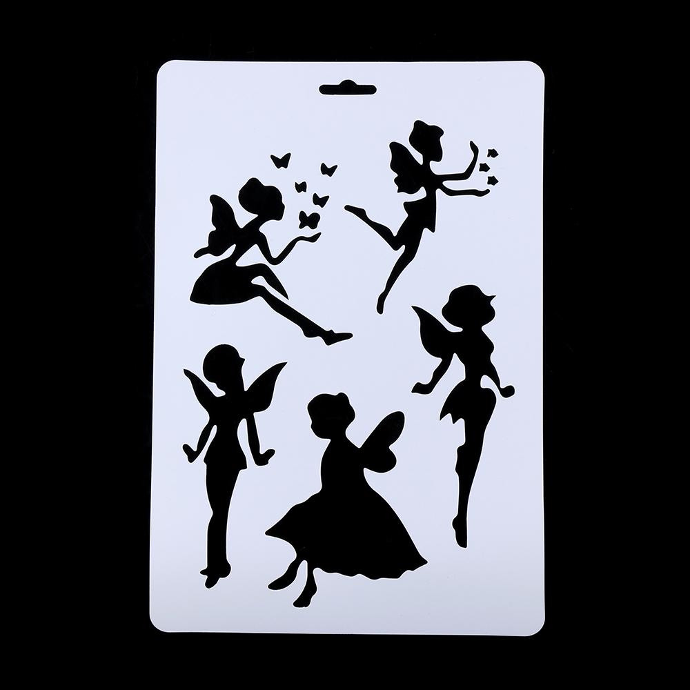pcs diy artesanato anjo camadas stencils para paredes pintura lbum de selos embossing cartes
