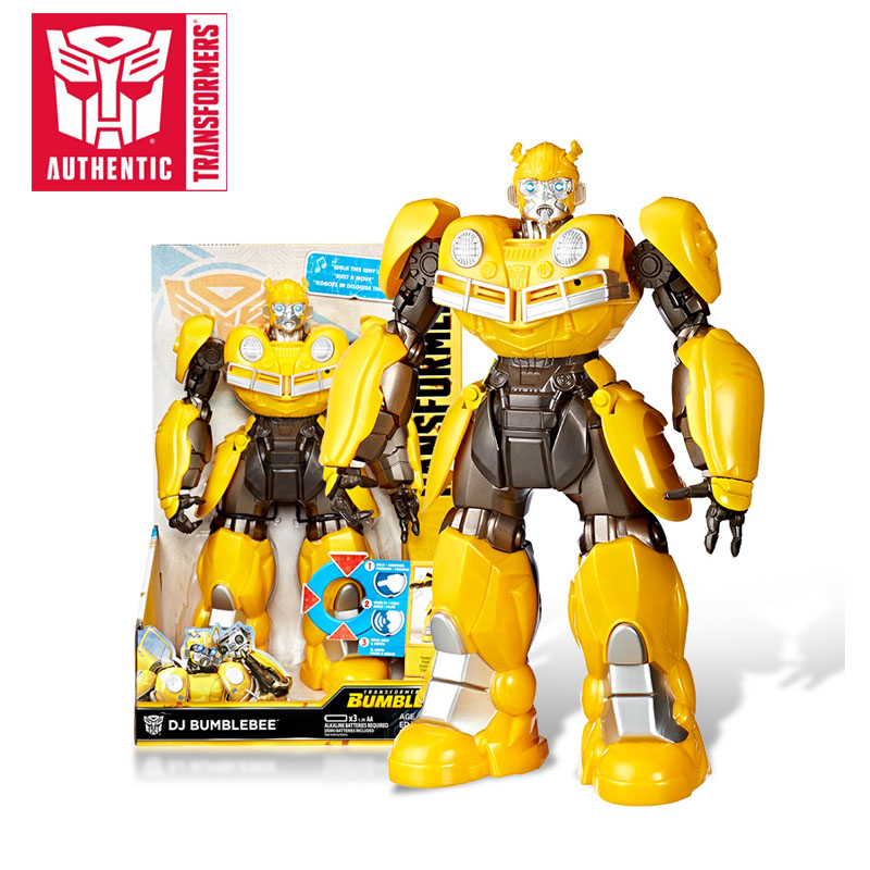 2018 25.5cm Transformers Toys Electronic DJ Bumblebee Singing and Dancing Action Figure Collectible Model Movie Toy 2018 27cm transformers toys titan changers morpho titans bumblebee optimus prime shatter action figures collection model doll