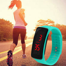 LED Sports Digital Watch Women Waterproof Silicone Fashion Wristwatch Ladies Fitness LED Wristband Clock for Running(China)