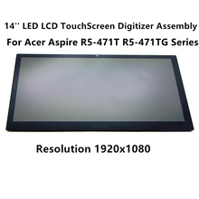 "FTDLCD 14"" LCD TouchScreen Digitizer Laptop Assembly For Acer Aspire R5-471T R5-471TG Serie R5-471T-74UY R5-471T-536D 1080P"